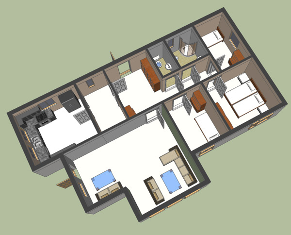 Google sketchup 3d floor plan google sketchup 3d for Google house plans